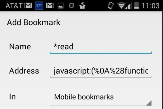 saved bookmark