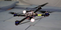 Quadcopter drone missing a propeller