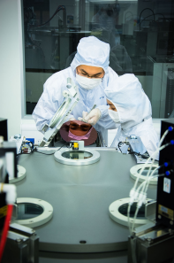A researcher at the National University of Singapore Graphene Research Center. Photo courtesy of National University of Singapore