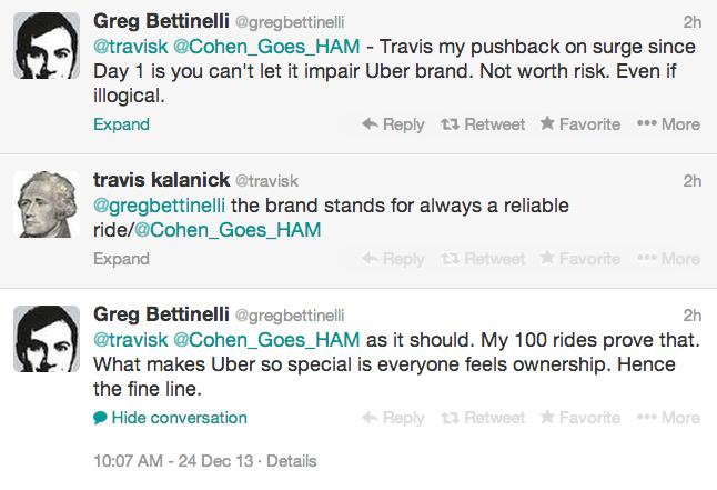 screenshot of Uber debate