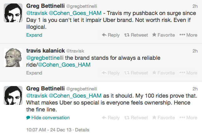screenshot of Uber debate