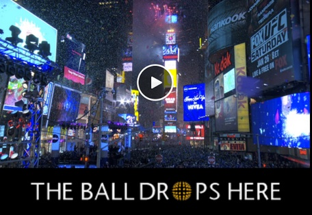 times square ball feature art