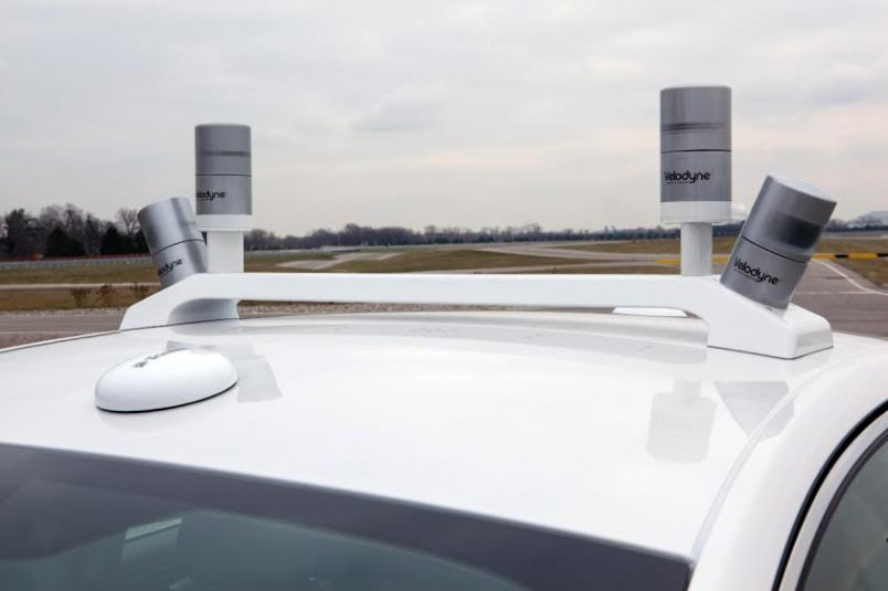 Ford Fusion research vehicle Lidar