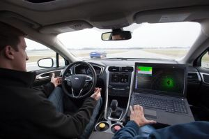 Ford Fusion Hybrid research vehicle interior