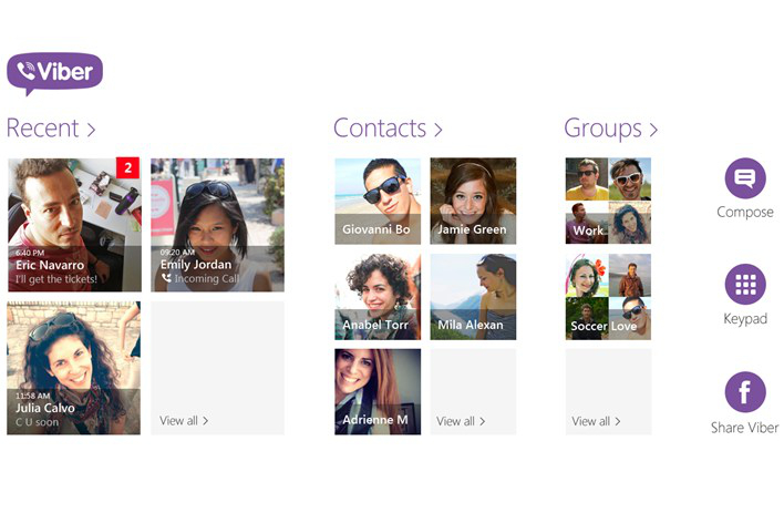 Viber Windows 8