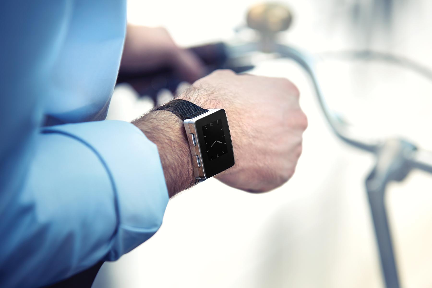Wellograph on wrist