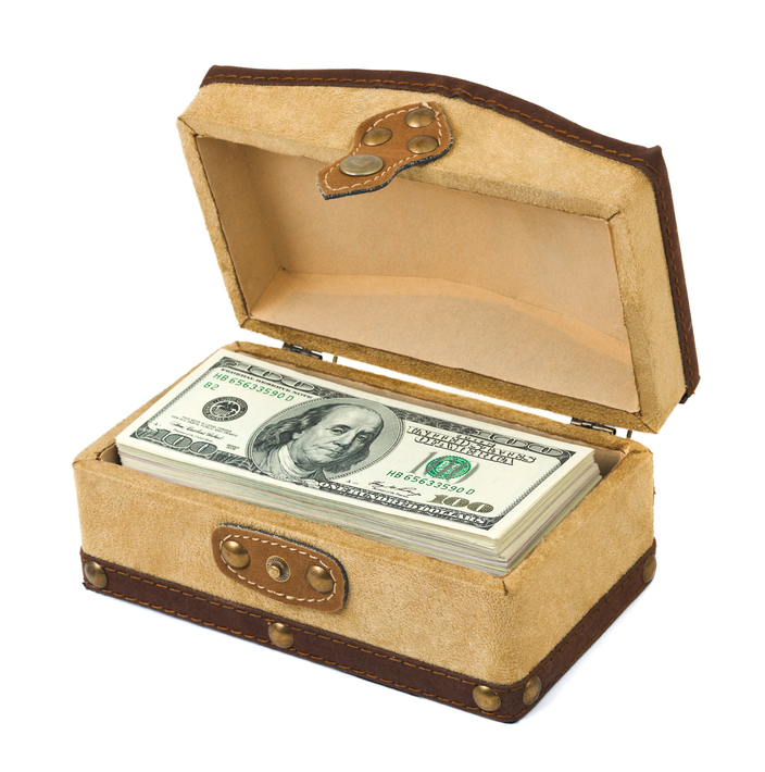 Money in box