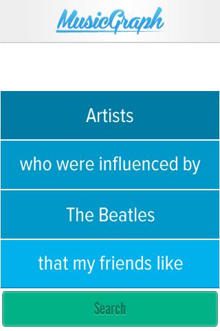 A screenshot of the Music Graph app.