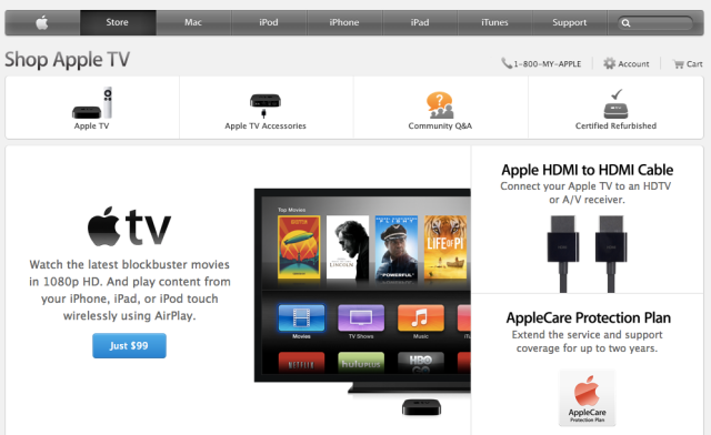 Apple TV site