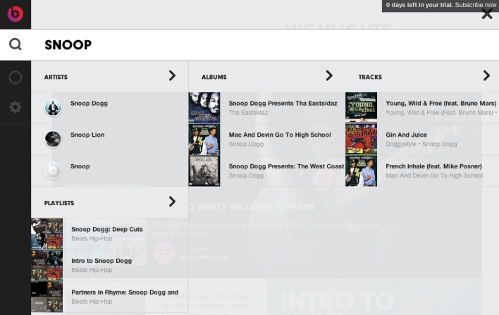 beats music search