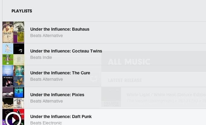 beats under the influence playlist