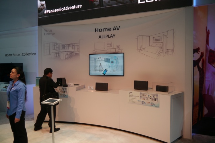 Panasonic was one of the many companies showing off network-connected speakers at CES 2014.