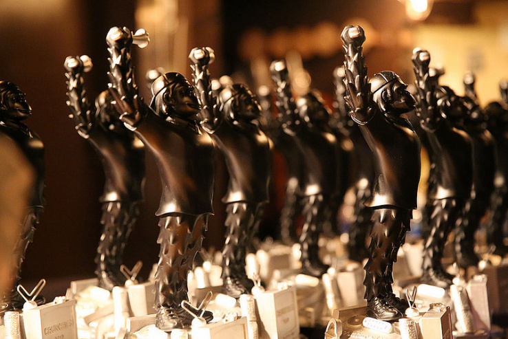 Crunchies award statues