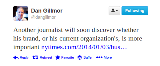 Gillmor tweet re Klein