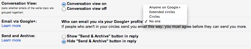 Gmail privacy opt out
