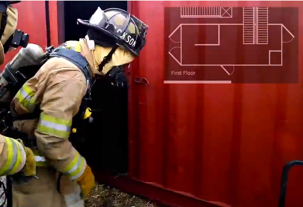 google glass firefigher floor plan
