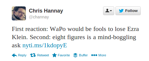 Hannay tweet re Klein