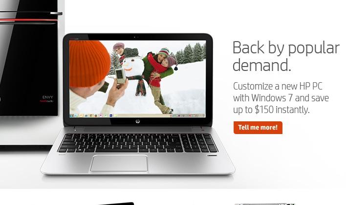 HP Windows 7 promo