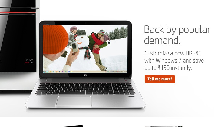 HP Windows 7 promo