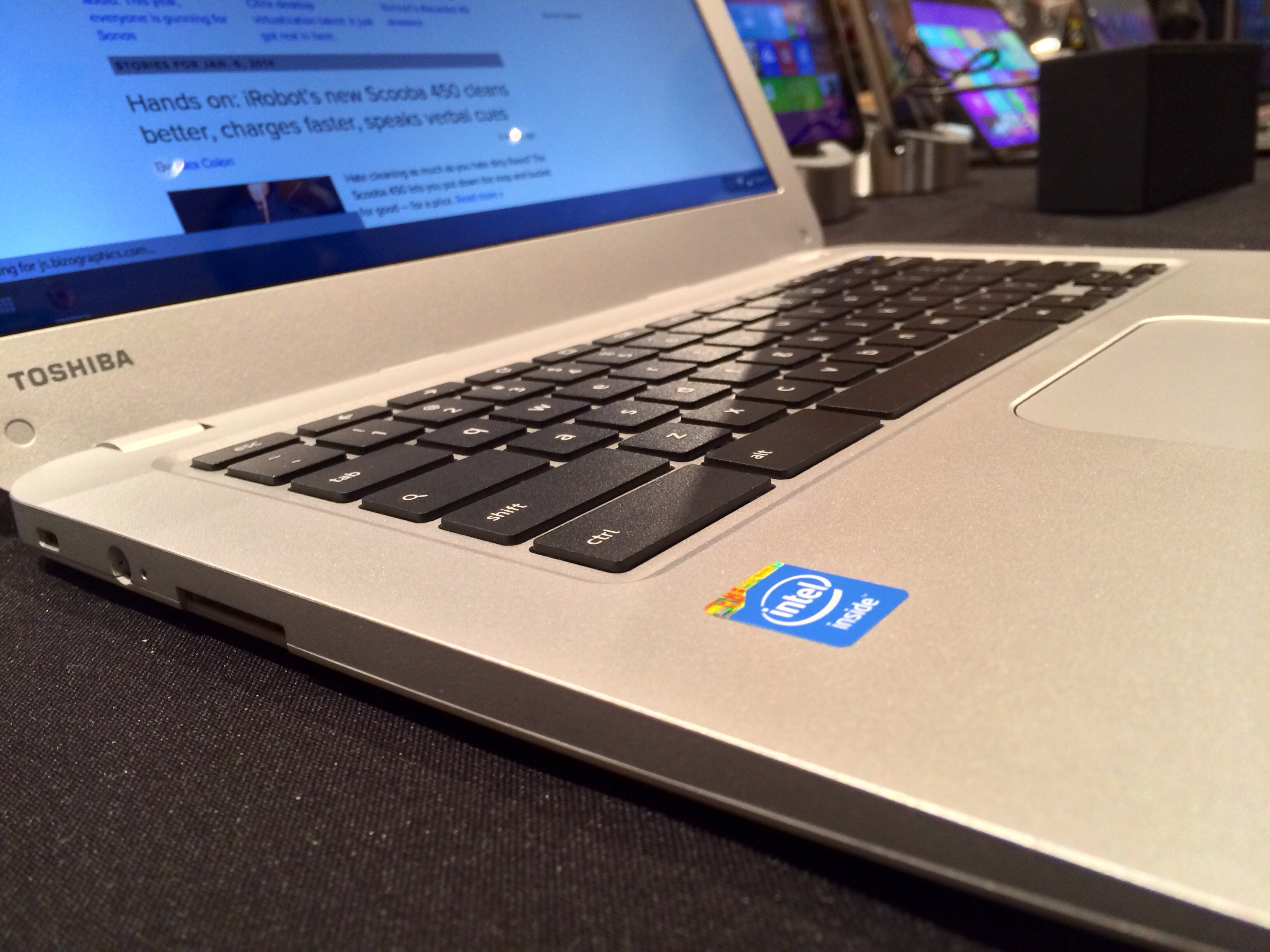 Toshiba Chromebook side angle