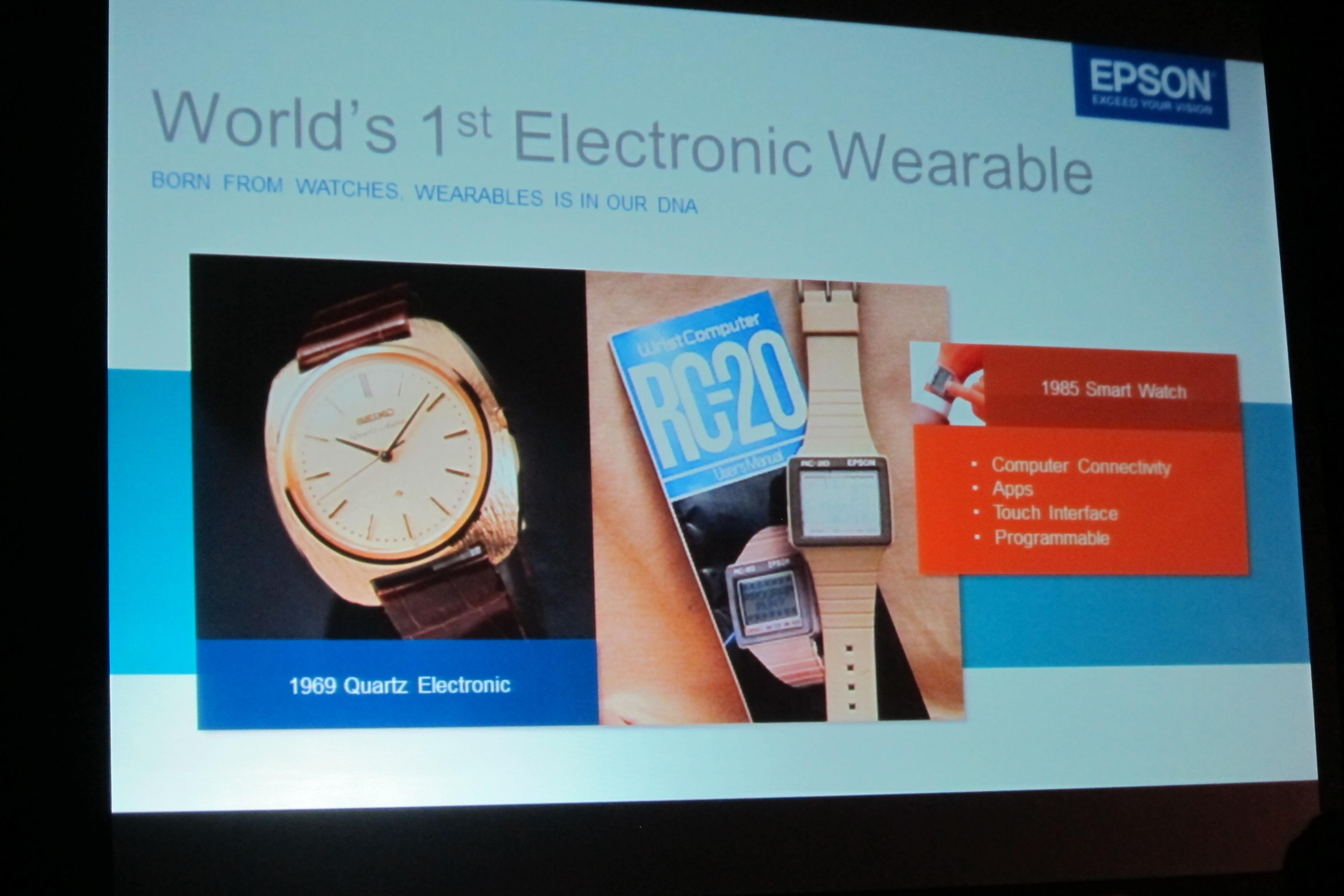 Epson wearable history