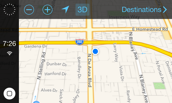 iOS in the Car map