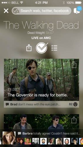 The new tvtag app.