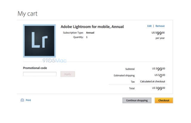 Lightroom for iPad