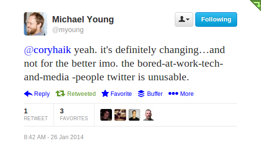 Michael Young tweet