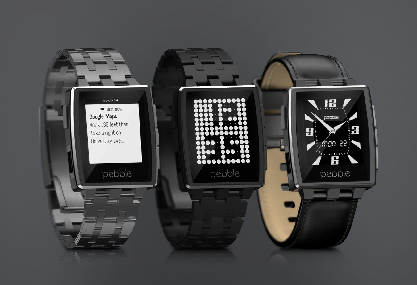 pebble steel trio