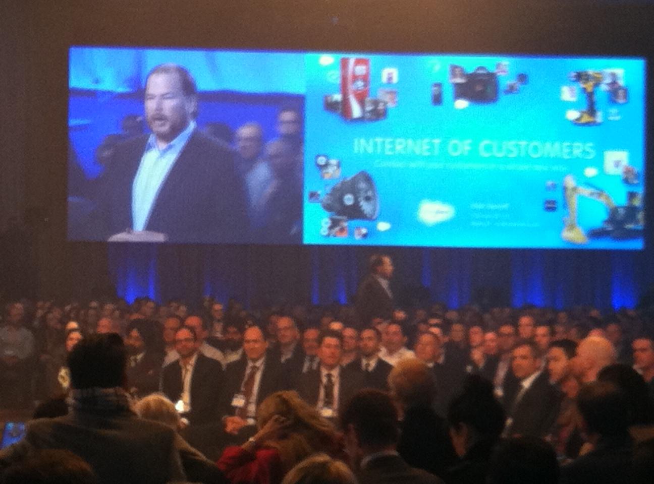 Salesforce.com CEO Marc Benioff at Salesforce1 event.