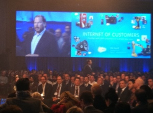 Salesforce.com CEO Marc Benioff at Salesforce1 event.