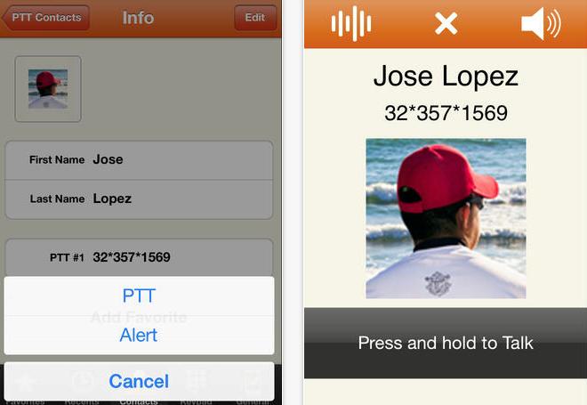 Prip iPhone interface