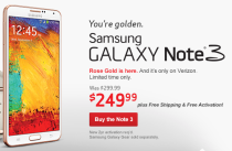 rose gold galaxy note 3 vzw