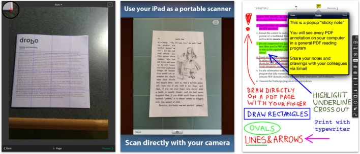 Scan in and annotate a document