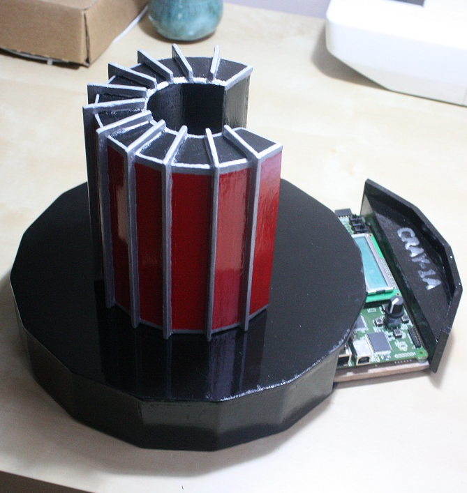 a 1/10 scale model of a Cray-1
