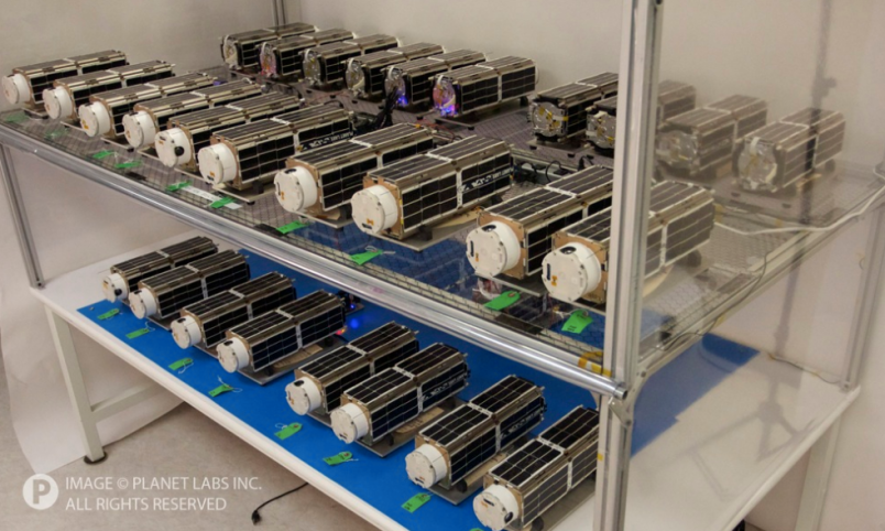 Planet Labs Dove satellites