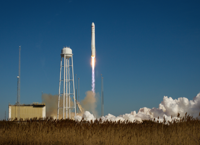 The Antares rocket during a successful launch. Photo by NASA/Bill Ingalls.