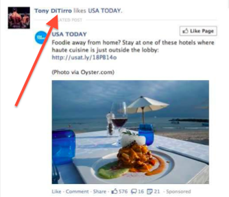 FB like screenshot
