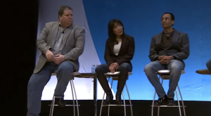 Susie Kim Riley speaking at AT&T's Developer Summit at CES