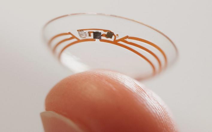 Google glucose testing contact lens
