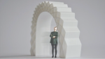 A 3D printed house rises in