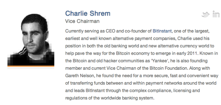 Charlie Shrem bitcoin foundation