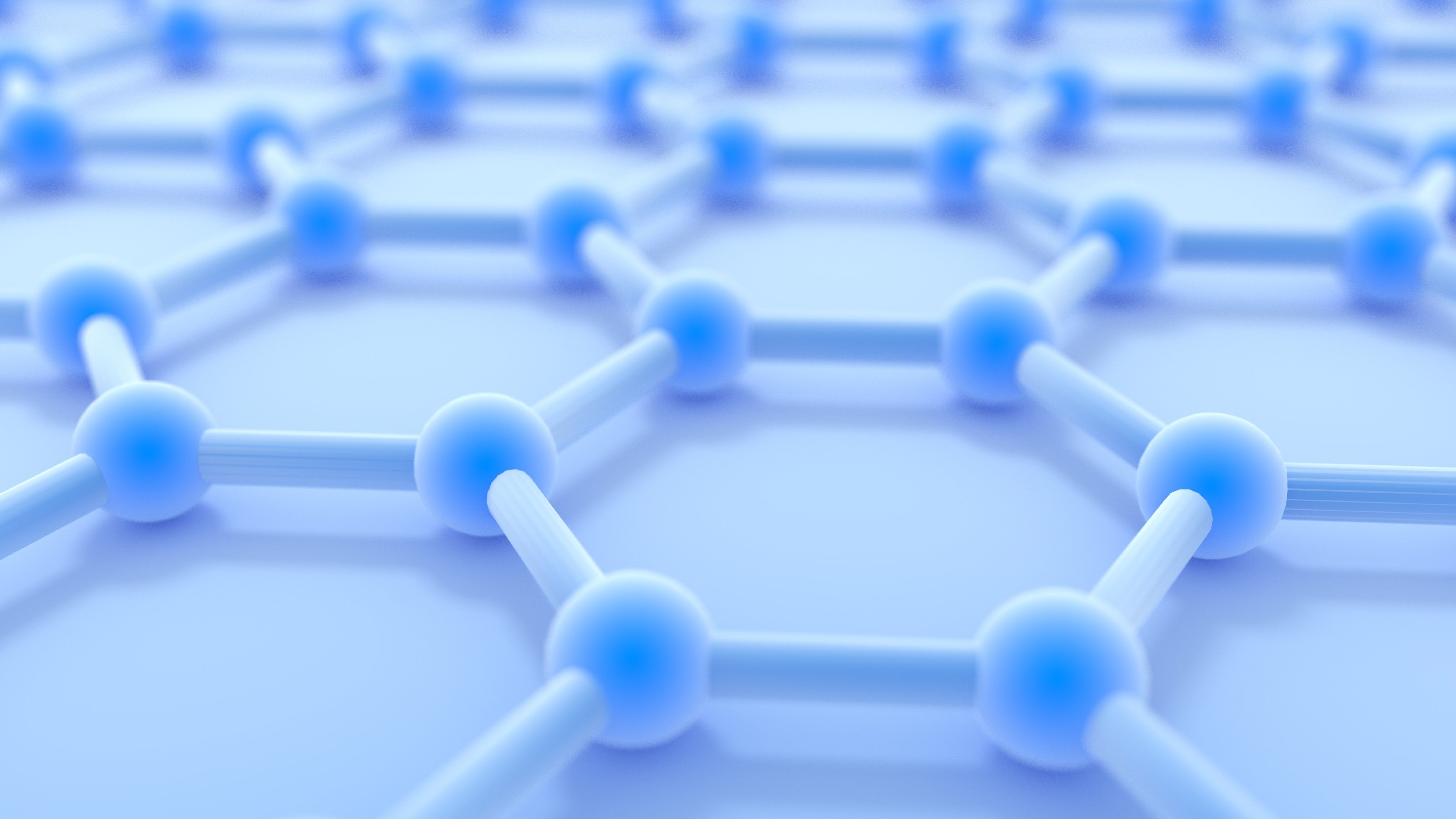 Graphene is made up of an atom-thick sheet of carbon atoms that form a repeating pattern of hexagons.