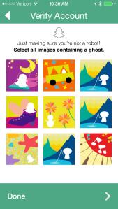 Snapchat ghost verification