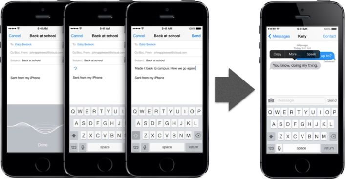 Take dictation with Siri