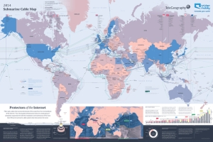 Telegeography's submarine cable map.