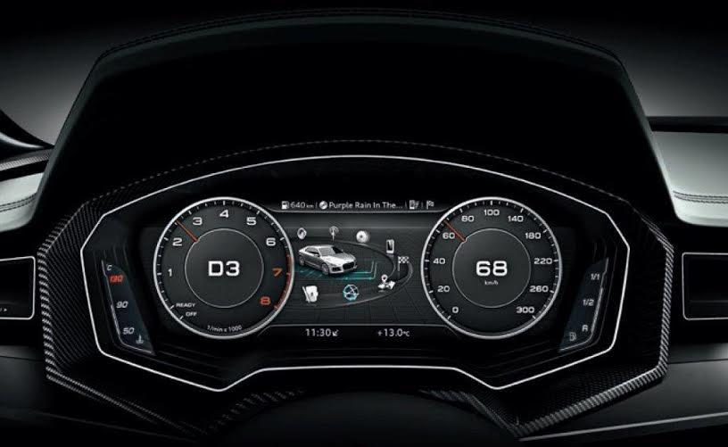 Audi instrument display
