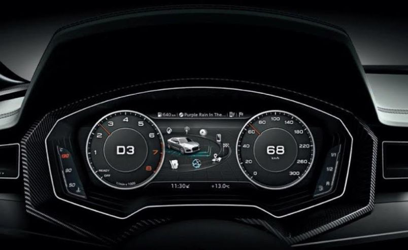 Audi instrument display