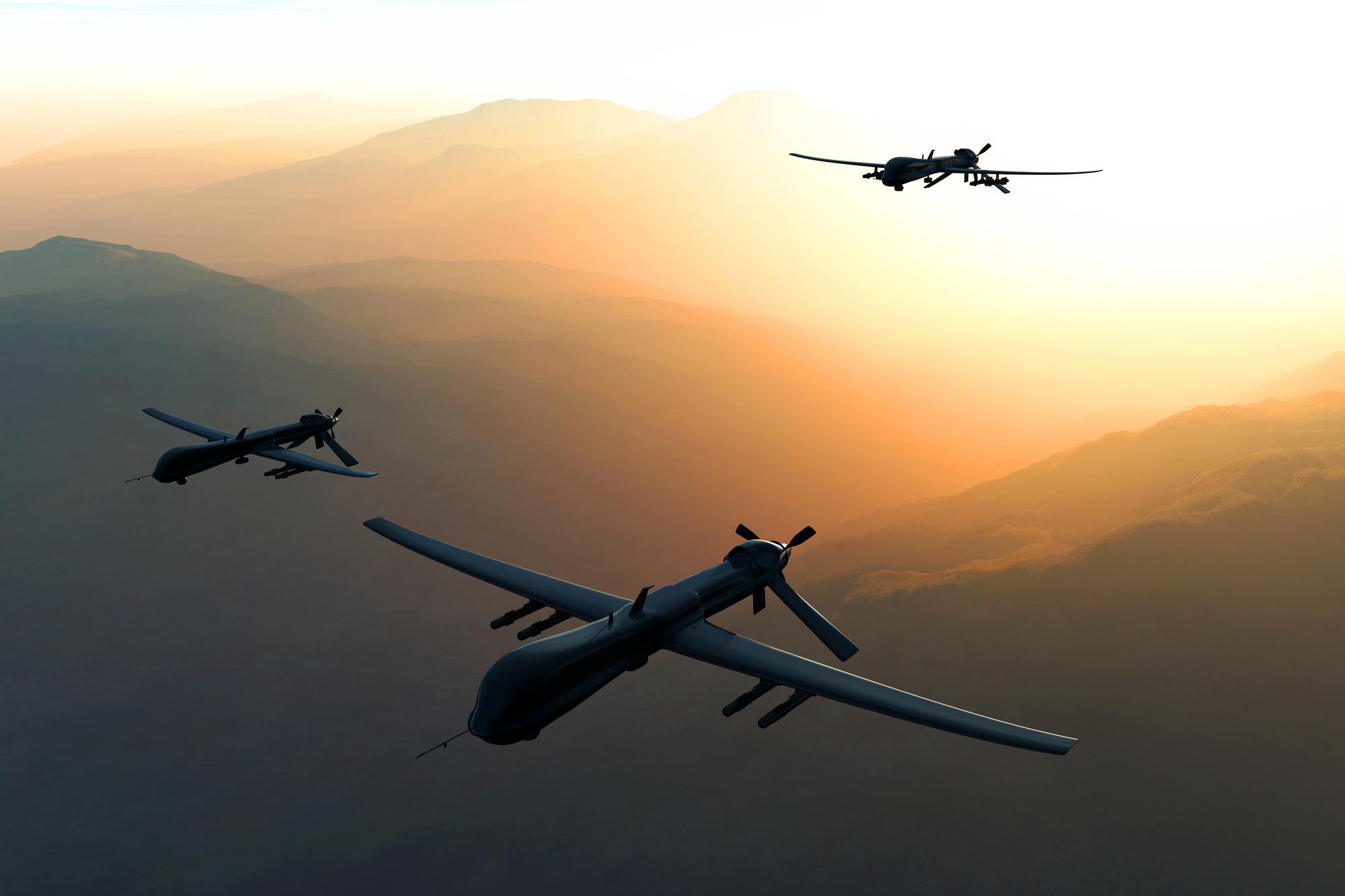 Drones, image courtesy of Pond5/boscorelli.